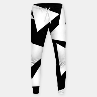 Miniatur Flying Triangles Black and White Sweatpants, Live Heroes