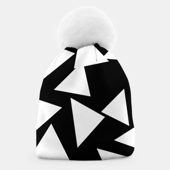 Thumbnail image of Flying Triangles Black and White Beanie, Live Heroes
