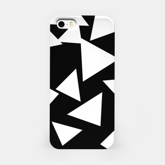 Miniatur Flying Triangles Black and White iPhone Case, Live Heroes