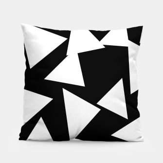 Thumbnail image of Flying Triangles Black and White Pillow, Live Heroes