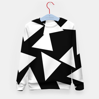 Thumbnail image of Flying Triangles Black and White Kid's sweater, Live Heroes