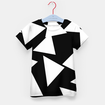 Thumbnail image of Flying Triangles Black and White Kid's t-shirt, Live Heroes