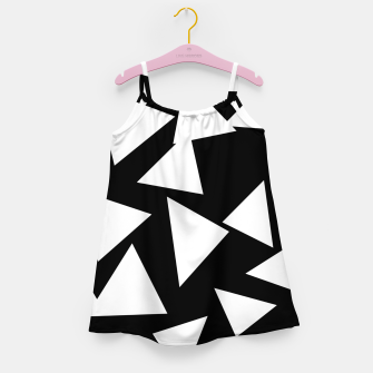 Thumbnail image of Flying Triangles Black and White Girl's dress, Live Heroes