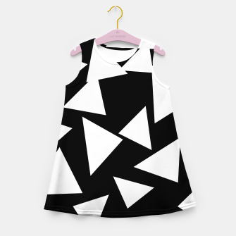 Miniatur Flying Triangles Black and White Girl's summer dress, Live Heroes