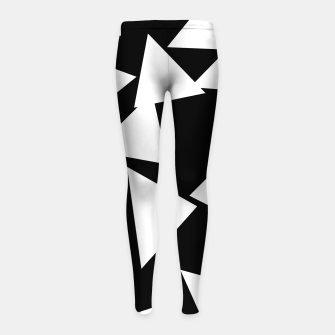Miniatur Flying Triangles Black and White Girl's leggings, Live Heroes