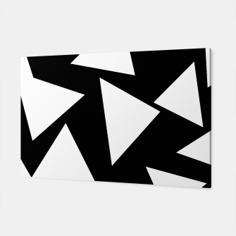 Miniatur Flying Triangles Black and White Canvas, Live Heroes