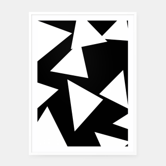 Miniatur Flying Triangles Black and White Framed poster, Live Heroes