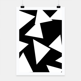 Miniatur Flying Triangles Black and White Poster, Live Heroes