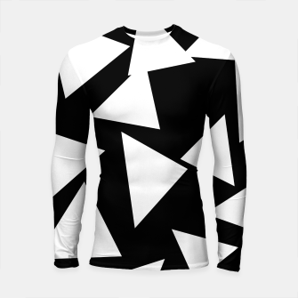 Miniatur Flying Triangles Black and White Longsleeve rashguard , Live Heroes