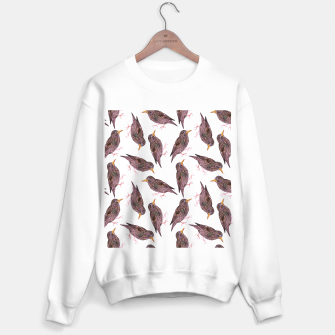 Miniatur Common starling or European starling or Sturnus vulgaris bird watercolor painting Sweater regular, Live Heroes