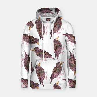Miniatur Common starling or European starling or Sturnus vulgaris bird watercolor painting Hoodie, Live Heroes