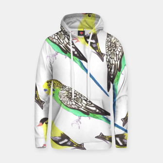 Miniatur Budgies and american goldfinches in watercolor  Hoodie, Live Heroes