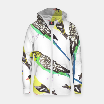 Miniatur Budgies and american goldfinches in watercolor  Zip up hoodie, Live Heroes