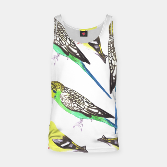 Miniatur Budgies and american goldfinches in watercolor  Tank Top, Live Heroes