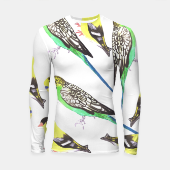 Miniatur Budgies and american goldfinches in watercolor  Longsleeve rashguard , Live Heroes