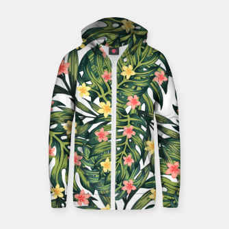 Thumbnail image of Tropical vibes Zip up hoodie, Live Heroes