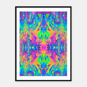 Thumbnail image of Psychedelic Spill 6 (Mirror Lab version) Framed poster, Live Heroes