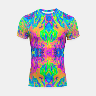 Thumbnail image of Psychedelic Spill 6 (Mirror Lab version) Shortsleeve rashguard, Live Heroes