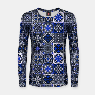 Thumbnail image of Geometric Moroccan Traditional Oriental Tiles Style  Women sweater, Live Heroes