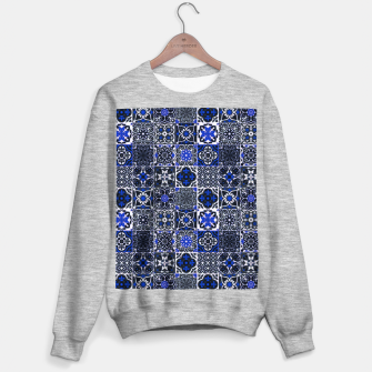 Thumbnail image of Geometric Moroccan Traditional Oriental Tiles Style  Sweater regular, Live Heroes
