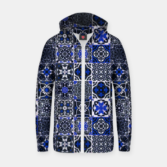Thumbnail image of Geometric Moroccan Traditional Oriental Tiles Style  Zip up hoodie, Live Heroes