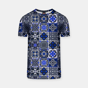 Thumbnail image of Geometric Moroccan Traditional Oriental Tiles Style  T-shirt, Live Heroes