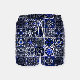Thumbnail image of Geometric Moroccan Traditional Oriental Tiles Style  Swim Shorts, Live Heroes
