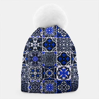 Thumbnail image of Geometric Moroccan Traditional Oriental Tiles Style  Beanie, Live Heroes