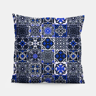 Thumbnail image of Geometric Moroccan Traditional Oriental Tiles Style  Pillow, Live Heroes