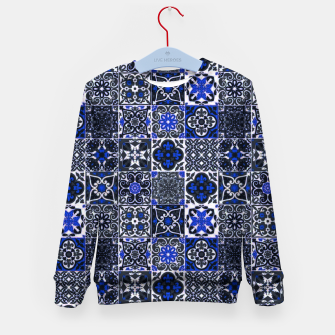 Thumbnail image of Geometric Moroccan Traditional Oriental Tiles Style  Kid's sweater, Live Heroes