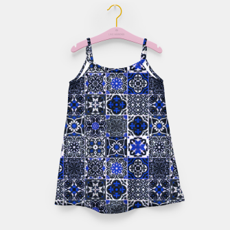 Thumbnail image of Geometric Moroccan Traditional Oriental Tiles Style  Girl's dress, Live Heroes