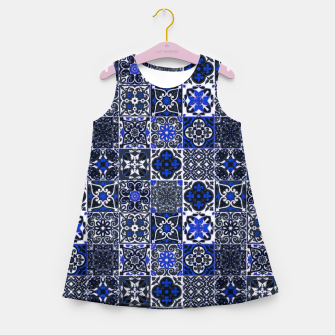 Thumbnail image of Geometric Moroccan Traditional Oriental Tiles Style  Girl's summer dress, Live Heroes