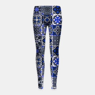 Thumbnail image of Geometric Moroccan Traditional Oriental Tiles Style  Girl's leggings, Live Heroes