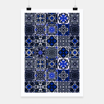 Thumbnail image of Geometric Moroccan Traditional Oriental Tiles Style  Poster, Live Heroes