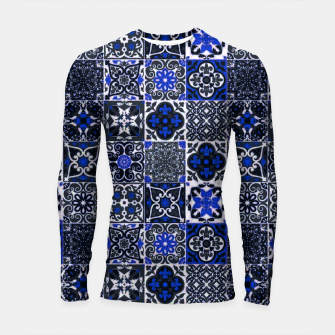 Thumbnail image of Geometric Moroccan Traditional Oriental Tiles Style  Longsleeve rashguard , Live Heroes