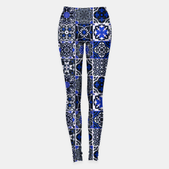 Thumbnail image of Geometric Moroccan Traditional Oriental Tiles Style  Leggings, Live Heroes