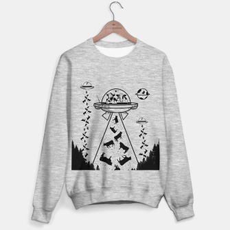 Alien cow abduction  Sweater regular Bild der Miniatur
