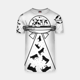 Thumbnail image of Alien cow abduction  T-shirt, Live Heroes