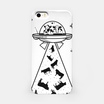 Miniatur Alien cow abduction  iPhone Case, Live Heroes