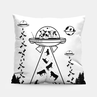 Miniatur Alien cow abduction  Pillow, Live Heroes