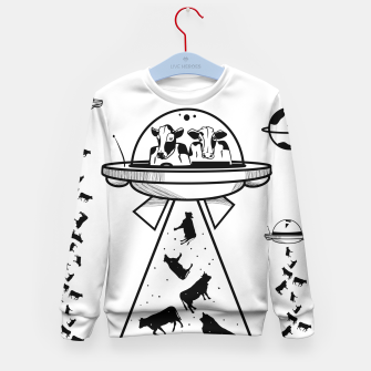 Alien cow abduction  Kid's sweater Bild der Miniatur