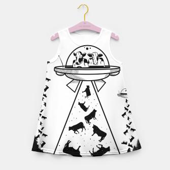 Alien cow abduction  Girl's summer dress Bild der Miniatur