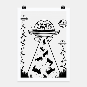 Alien cow abduction  Poster Bild der Miniatur