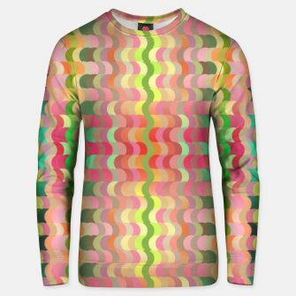 Miniaturka Abstract retro waves print in pastel colors Unisex sweater, Live Heroes