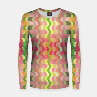 Miniaturka Abstract retro waves print in pastel colors Women sweater, Live Heroes