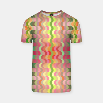 Miniaturka Abstract retro waves print in pastel colors T-shirt, Live Heroes