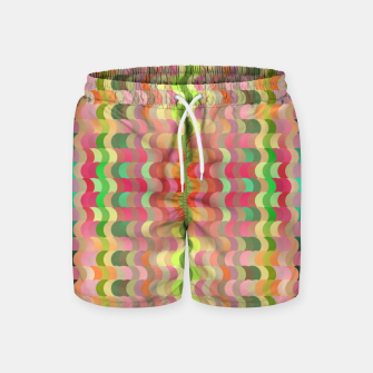Miniaturka Abstract retro waves print in pastel colors Swim Shorts, Live Heroes
