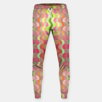 Miniaturka Abstract retro waves print in pastel colors Sweatpants, Live Heroes