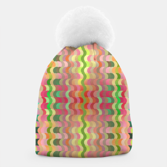 Miniaturka Abstract retro waves print in pastel colors Beanie, Live Heroes