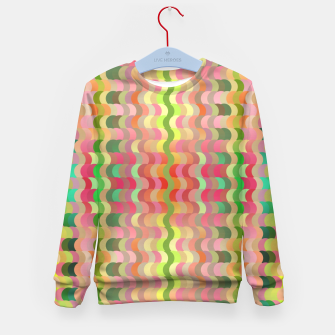 Miniaturka Abstract retro waves print in pastel colors Kid's sweater, Live Heroes
